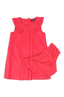 TOMMY HILFIGER Ruffle-neck dress 6 months-3 years