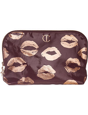 CHARLOTTE TILBURY Festive rose gold lip cosmetic bag