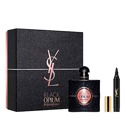 YVES SAINT LAURENT Black Opium eau de parfum makeup gift set
