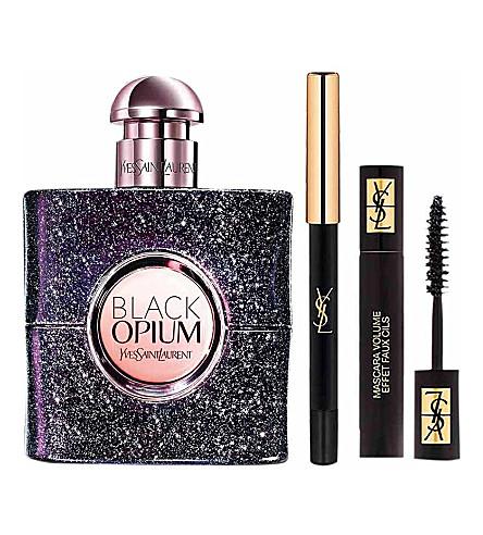 YVES SAINT LAURENT Black Opium Nuit Blanche eau de parfum and makeup gift set