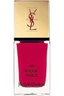 YVES SAINT LAURENT Spring Look 2014 La Laque Couture lasting nail polish