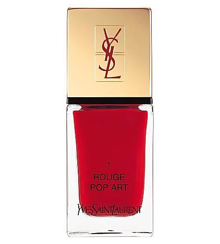YVES SAINT LAURENT La Laque Couture lasting nail polish (01 rouge pop art