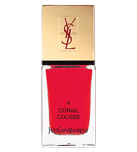 YVES SAINT LAURENT La Laque Couture lasting nail polish (02 orange fusion