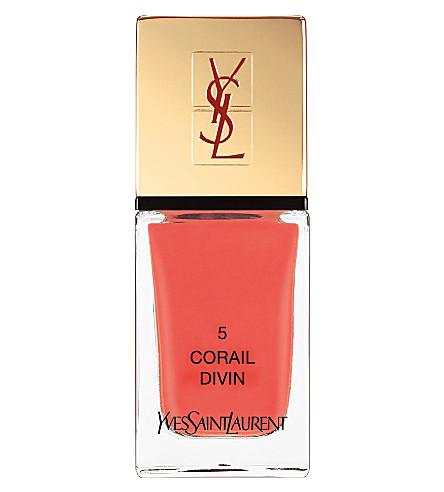 YVES SAINT LAURENT La Laque Couture lasting nail polish (05 corail divin
