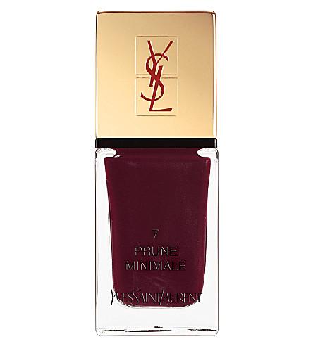 YVES SAINT LAURENT La Laque Couture lasting nail polish (07 prune minimale