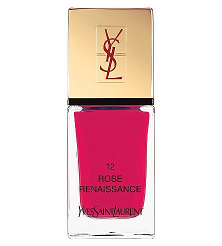 YVES SAINT LAURENT La Laque Couture lasting nail polish (12 rose renaissance