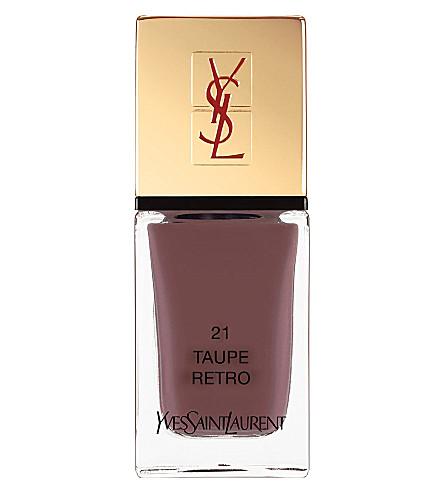 YVES SAINT LAURENT La Laque Couture lasting nail polish (21 taupe retro