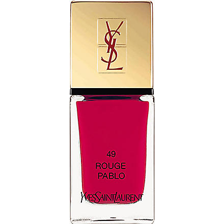 YVES SAINT LAURENT La Laque Couture lasting nail polish (48+rouge+pablo
