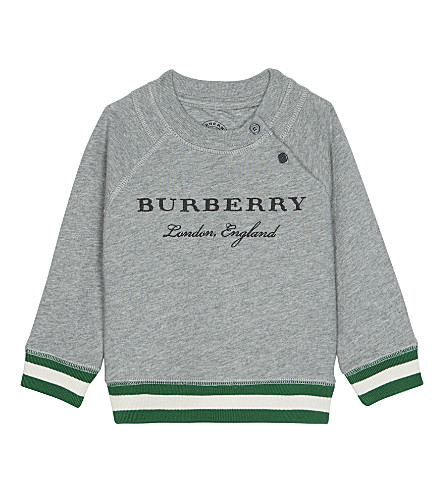 BURBERRY Stanley cotton jumper 6-36 months (Grey+melange