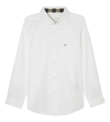 BURBERRY Cotton fred shirt 4-14 years (White