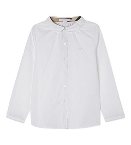 BURBERRY Tallori cotton shirt 4-14 years (White