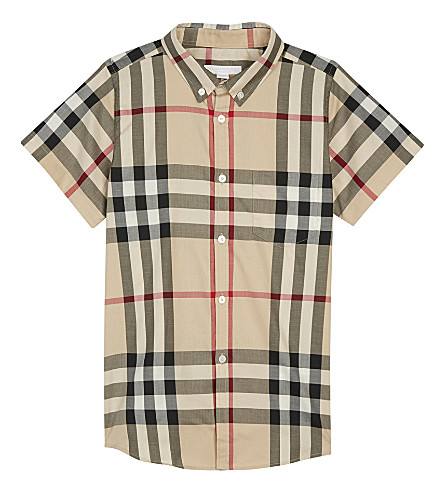 BURBERRY Check cotton shirt 4-14 years (New+classic+check