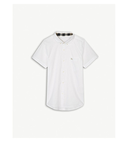 BURBERRY Fred logo cotton shirt 4-14 years (White