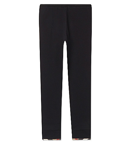 BURBERRY Penny cotton leggings 4-14 years (Black
