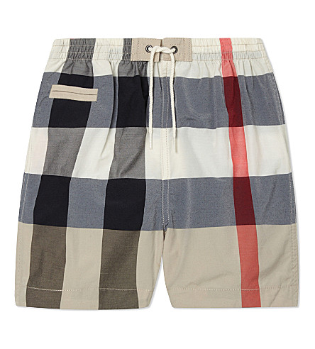 BURBERRY Saxon cotton swimshorts 6-36 months (New+classic+mens