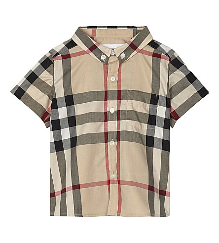 BURBERRY Mini Fred cotton shirt 6-36 months (New+classic+check