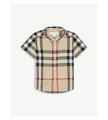 BURBERRY Mini Fred cotton shirt 6-36 months (Nwclasschk