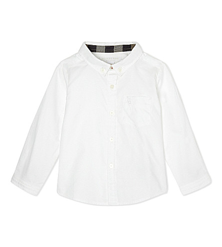 BURBERRY Cotton mini fred shirt 6-36 months (White