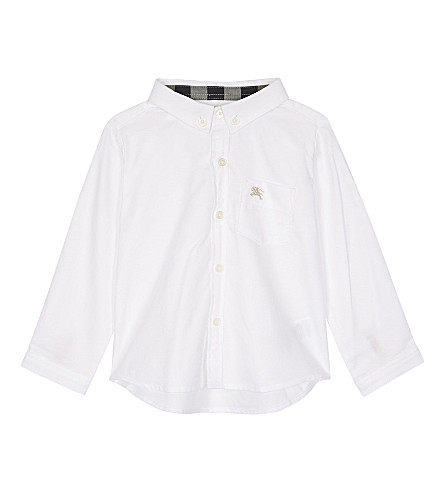 BURBERRY Fred cotton shirt 6-36 months (White