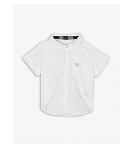BURBERRY Mini Fred cotton shirt 6-36 months (White