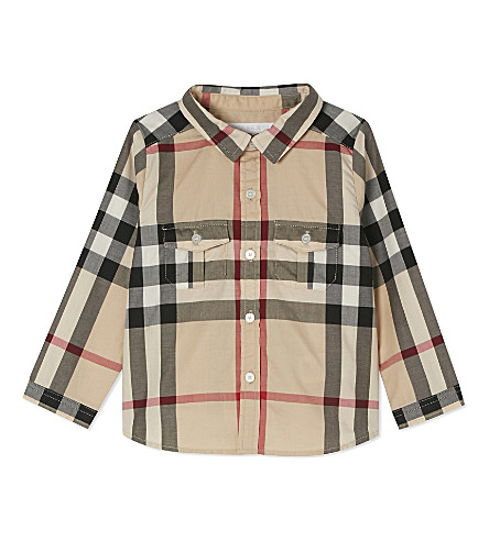 BURBERRY Trent checked cotton shirt 6-36 months (New+classic+check