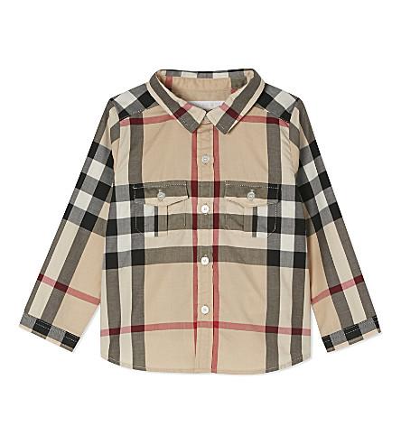 BURBERRY 格纹棉衬衫6-36 月 (新 + 经典 + 格纹