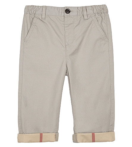 BURBERRY Ricky cotton chinos 6-36 months (Taupe