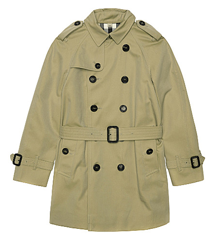 BURBERRY Wiltshire mini cotton trench coat 4-14 years (Honey
