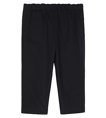 BURBERRY Darcy cotton trousers 3-24 months (Ink