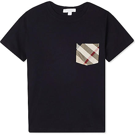Burberry: Checked pocket cotton t-shirt 4-14 years - Hiphunters Shop