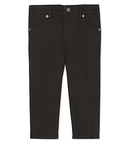 BURBERRY Cotton langston jeans 6-36 months (Black