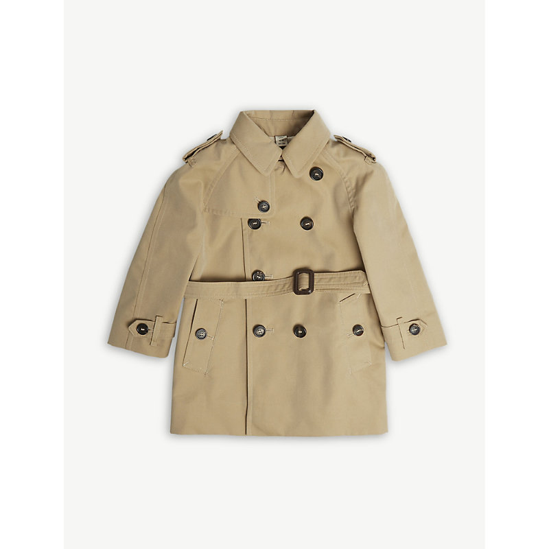 BURBERRY | Wiltshere Cotton Trench Coat 6-36 Months | Goxip