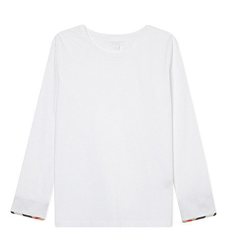 BURBERRY Tulisa classic cotton T-shirt 4-14 years (White