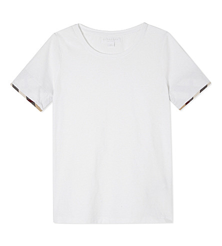 BURBERRY Tulisa cotton T-shirt 4-14 years (White