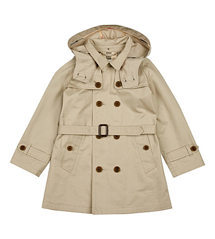 BURBERRY Carlisle cotton trench coat 1-3 years (Taupe