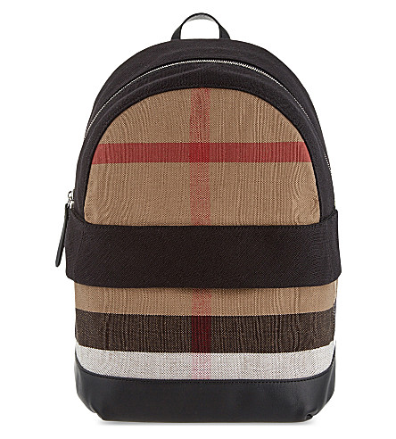BURBERRY Tillier check canvas backpack (Black