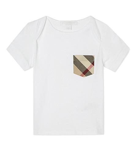 BURBERRY Callum cotton t-shirt 6-36 months (White
