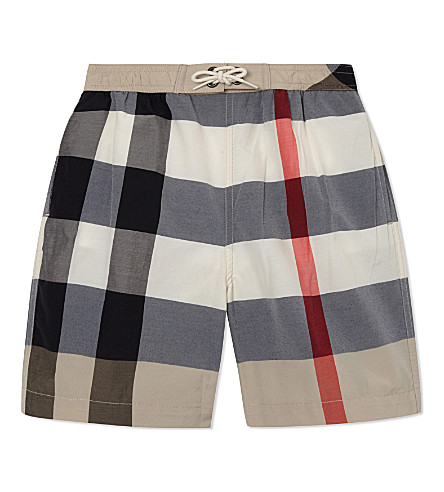 BURBERRY Mini Jeffries classic check swimshorts 4-14 years (New+classic+check