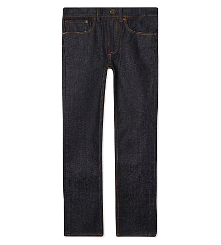 BURBERRY Skinny cotton jeans 4-14 years (Dark+indigo
