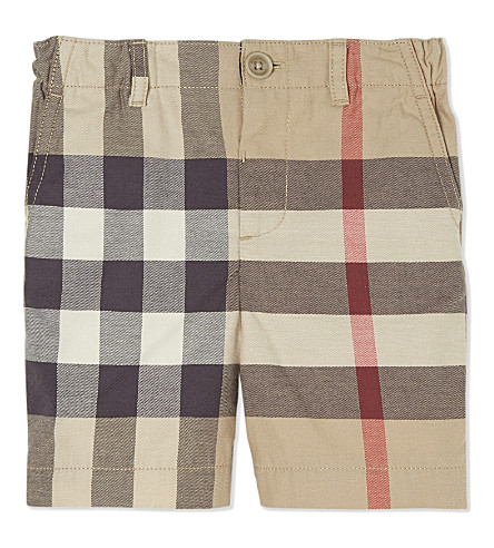 BURBERRY Cotton sean check shorts 6-36 months (New+classic+check