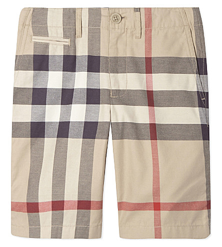 BURBERRY Tristan check cotton shorts 4-10 years (New+classic
