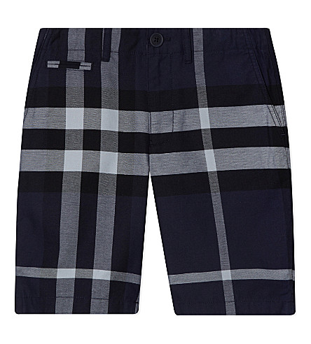 BURBERRY Tristen cotton shorts 4-14 years (Navy