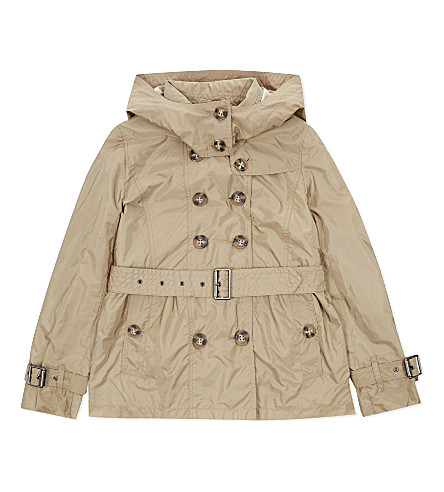 BURBERRY Grangemoor trench coat 4-14 years (Sisal
