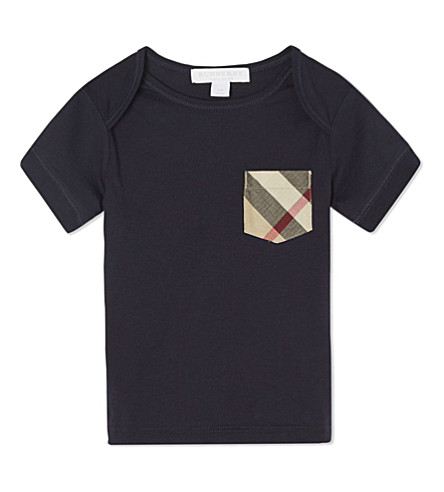 BURBERRY Cotton callum tee 6-36 months (True+navy