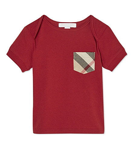 BURBERRY Callum cotton t-shirt 6-36 months (Military+red