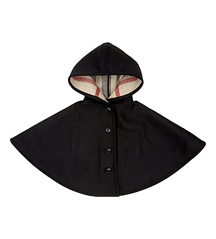 BURBERRY House check wool cape (Black