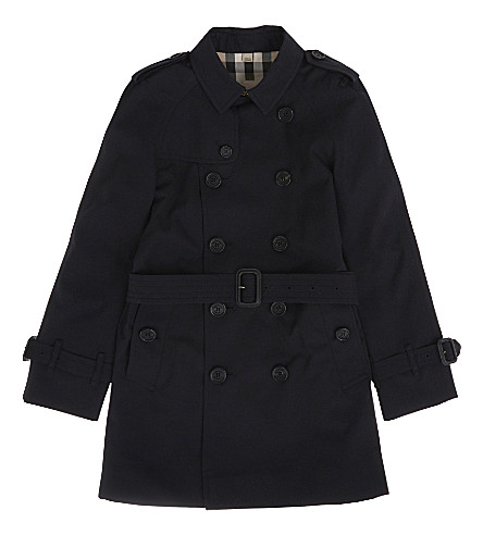 BURBERRY Wiltshire cotton trench coat 4-14 years (Navy