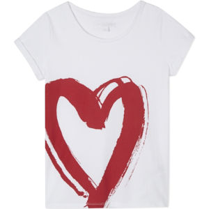 Heart cotton t-shirt 4-14 years