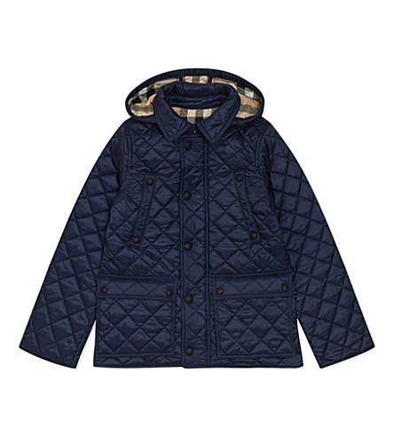 BURBERRY Charlie quilted jacket 4-14 years (Ink+blue