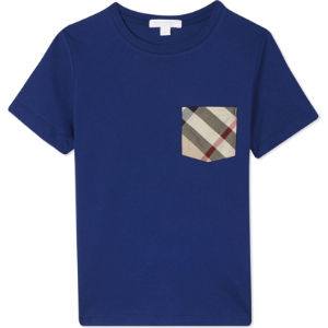 Checked pocket cotton t-shirt 4-14 years